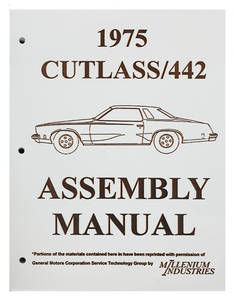 1975 Cutlass Factory Assembly Line Manuals