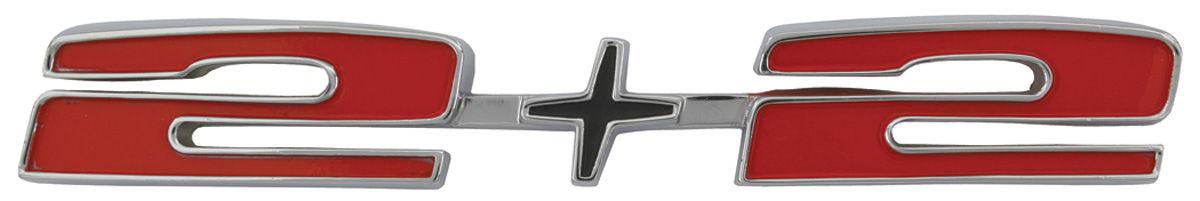 "Photo of Hood Emblem, 1966 Catalina ""2+2"""