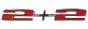"1966-1966 Catalina Hood Emblem, 1966 Catalina ""2+2"""