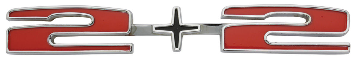 "Photo of Deck Lid Emblem, 1965-66 Catalina ""2+2"""