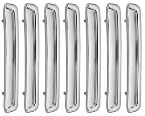 1967-1967 Catalina Fender Louvers, 1967 Catalina 2+2 Front Right Side (Set of 7)