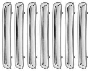 1967-1967 Catalina Fender Louvers, 1967 Catalina 2+2 Front Left Side (Set of 7)