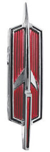 1969-1970 Cutlass Hood Emblem, 1969-70 Supreme (Rocket)