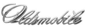 "Cutlass Grille Emblem, 1971-72 ""Oldsmobile"" (Script)"
