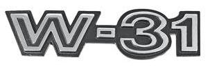 """Cutlass Fender Emblem, 1970 """"W-31"""""""