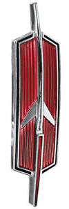 1968-1968 Cutlass Trunk Emblem, 1968 Convertible (Rocket)