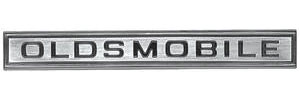 "Cutlass Grille Bar Emblem, 1967 ""Oldsmobile"""