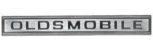 "Cutlass Grille Bar Emblem, 1967 ""Oldsmobile"""