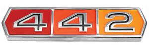 """Cutlass Fender, Quarter & Trunk Emblem; 1964-65 """"4-4-2"""""""