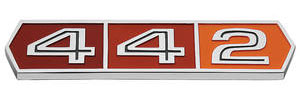 "1966-1966 Cutlass Quarter Panel Emblem, 1966 ""4-4-2"" (Rear)"