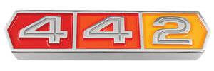 """Cutlass/442 Grille Emblem, 1966 """"4-4-2"""""""