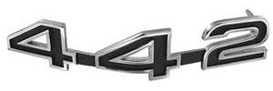 """Cutlass/442 Grille Emblem, 1968 """"4-4-2"""""""