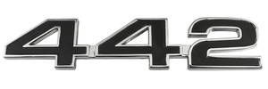 "Cutlass/442 Trunk Emblem, 1968 ""4-4-2"""