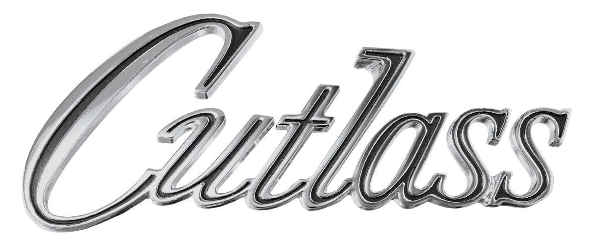 trunk emblem  1970  u0026quot cutlass u0026quot   script  fits 1970 cutlass
