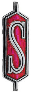 """Cutlass/442 Fender Emblem, 1972 Cutlass """"S"""" (Script)"""