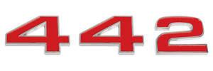 """Cutlass/442 Grille Emblem, 1972 """"4-4-2"""" 3-Piece"""