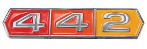"""Cutlass/442 Trunk Emblem, 1966-67 """"4-4-2"""""""