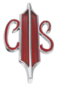 "Trunk Emblem, 1967 Cutlass Supreme & 4-4-2 ""CS"""