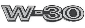 """1970-1972 Cutlass Fender Emblem, 1970-72 """"W-30"""""""