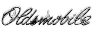 """Cutlass/442 Grille Emblem, 1970 Cutlass S/Rallye 350; """"Oldsmobile"""" (Script)"""