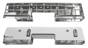 "1965-67 Cutlass/442 Armrest Bases, Chrome Front, HT/Convertible – 14"" Base for Paddle-Style Handles"