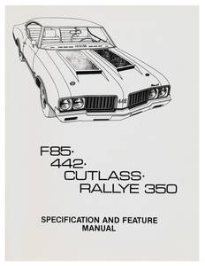 1970-1970 Cutlass Illustrated Facts Manual