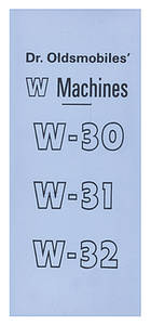 1961-1977 Cutlass Dr. Olds W-Machine Sales Catalog