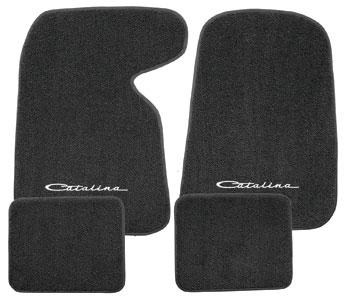 "Photo of Floor Mats, Carpet Matched Oem Style Carpet ""Catalina"" script"