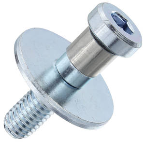 1965-72 Bonneville Door Lock Striker, Front 7/16-14, Silver w/Collar