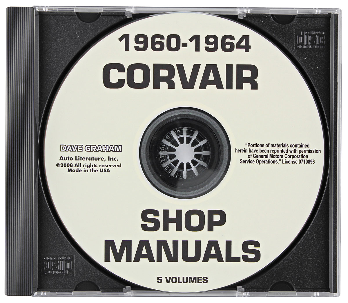 Photo of CD-ROM Factory Shop Manuals Corvair
