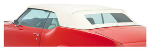 1966-1967 Convertible Top Kits, Chevelle GM Factory-Style w/Plastic Window