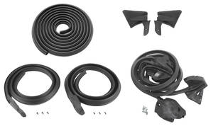1974-1976 Cadillac Weatherstrip Kit, Stage I (Hardtop) (DeVille & Calais)
