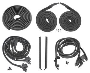1956-1956 Cadillac Weatherstrip Kit, Stage I (4-Door Hardtop) Sedan DeVille