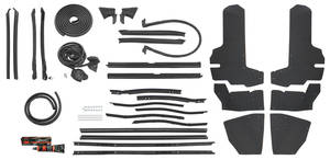 1975-76 Weatherstrip Kit, Stage II (Convertible) Eldorado (OE)