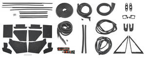 1974-76 Weatherstrip Kit, Stage II (2-Door Hardtop) Calais & DeVille