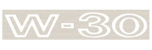1969 Cutlass Fender Decal White W-30, by RESTOPARTS