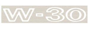 1969 Cutlass Fender Decal White W-30
