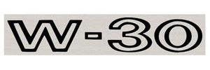 1969 Cutlass/442 Fender Decal Black W-30
