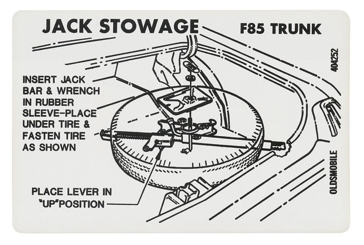 1969-72 cutlass  442 trunk decal