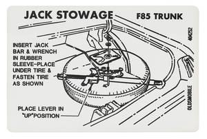 1969-72 Cutlass Trunk Decal - Tire Stowage (#404252)
