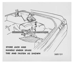 1964 Cutlass Trunk Decal - Tire Stowage (#385131)