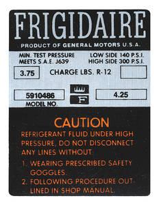 1964 Cutlass Air Conditioning Compressor Decal Orange (#5910486)