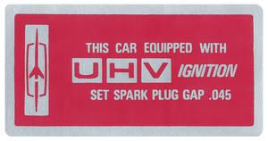 1966-67 Cutlass Ignition Decal, UHV