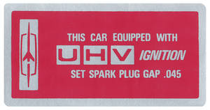 1966-67 Cutlass Ignition Decal, UHV