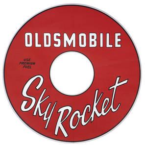 1964-1964 Cutlass Air Cleaner Decal Skyrocket (Red)