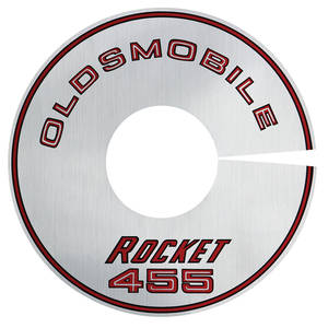 "1968 Cutlass Air Cleaner Decal Rocket 455/4-BBL 11"" (Silver)"