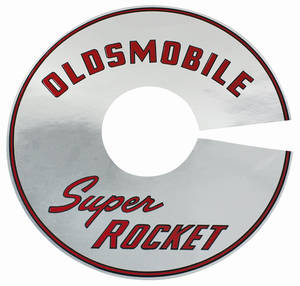 "1966 Cutlass/442 Air Cleaner Decal Super Rocket 2-BBL 7 1/2"" (Clear)"