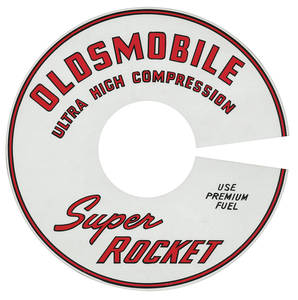 1966-1967 Cutlass Air Cleaner Decal Super Rocket Ultra-High Compression