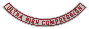 "1967 Cutlass/442 Air Cleaner Decal Ultra-High Compression 10"" (Clear)"