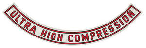 "1965 Cutlass Air Cleaner Decal Ultra-High Compression 10"" (Clear)"
